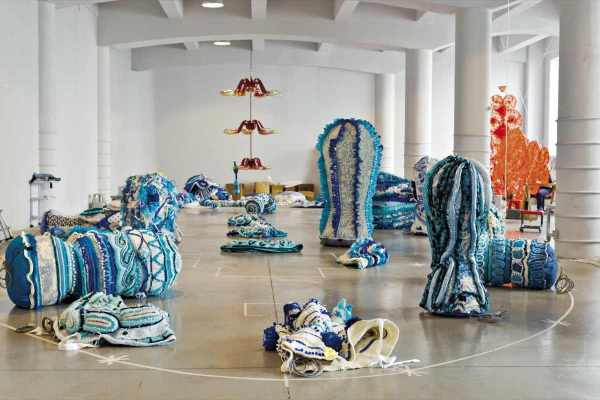 Contemporary Textile Art Installation