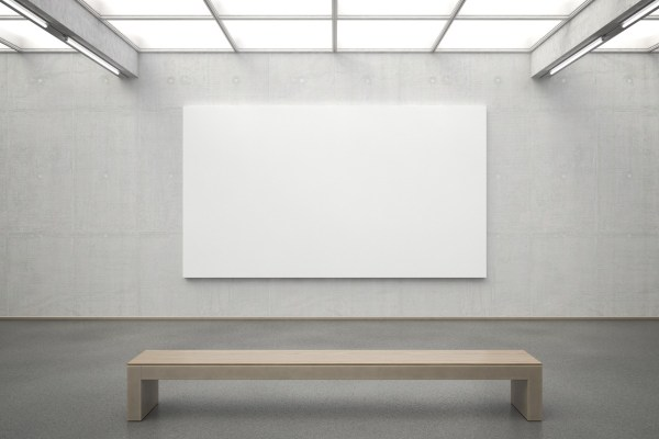 Empty Art Gallery Wall