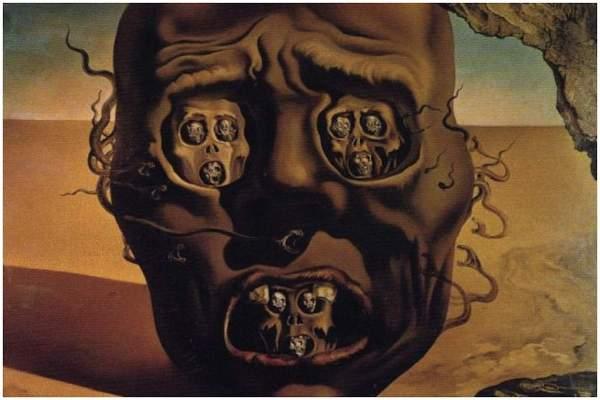Face of War Salvador Dali Paintings