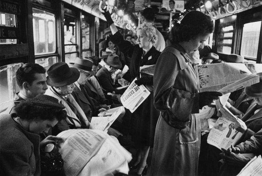 Stanley Kubrick, From Life and Love on the New York City Subway, 1947