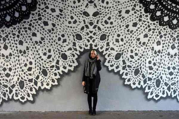 Knitting Lace Art In Street Nespoon Interview Widewalls