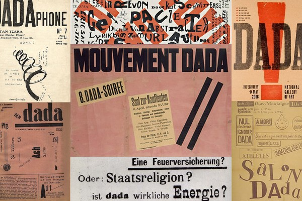 Dada Art Movement Collage