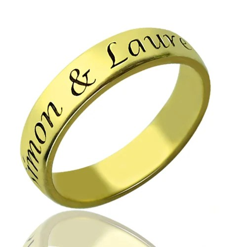 Valentines Day Gifts For Him Promise Name Ring 18k Gold
