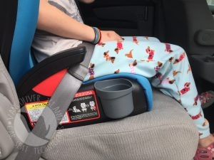 Britax Skyline booster seat lap belt fit
