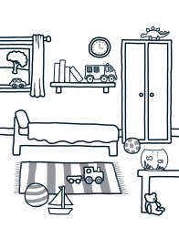 Printable Bedroom Coloring Pages