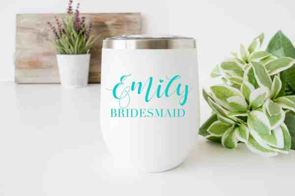 Bridesmaid_Name_wine_Tumbler