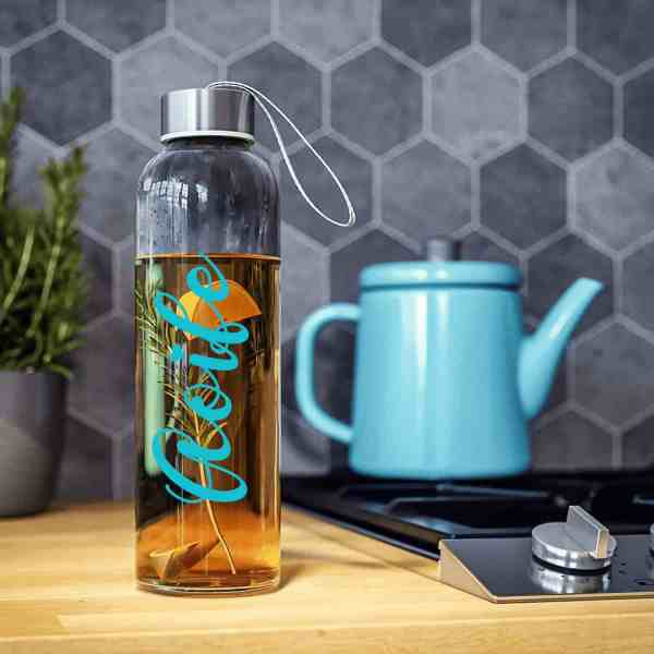 Personalised Glass Water Bottle