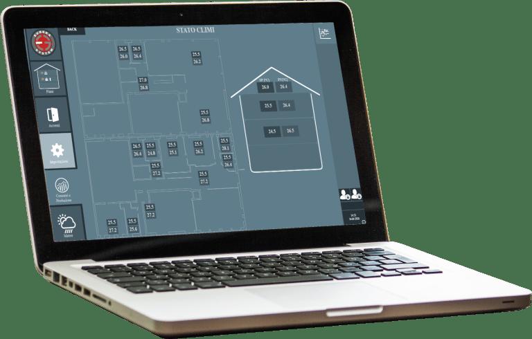 Climatizzazione in Domusys BMS software di smart building di Eureka System