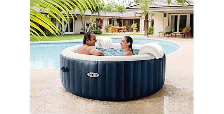 intex portable inflatable hot tub spa