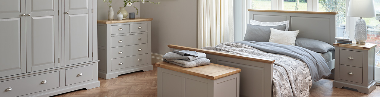 how to style grey bedroom furniture