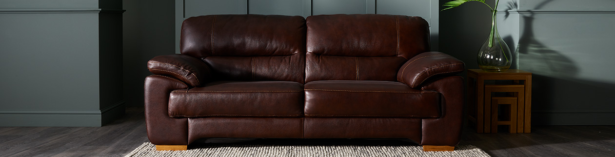 mixing leather and fabric sofas oak