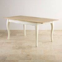 Bella Painted Extending Dining Table in Brushed Oak
