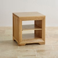 Bevel Natural Solid Oak Lamp Table | Oak Living Room Furniture
