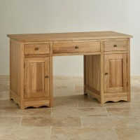 Cairo Computer Desk in Natural Solid Oak | Oak Furniture Land