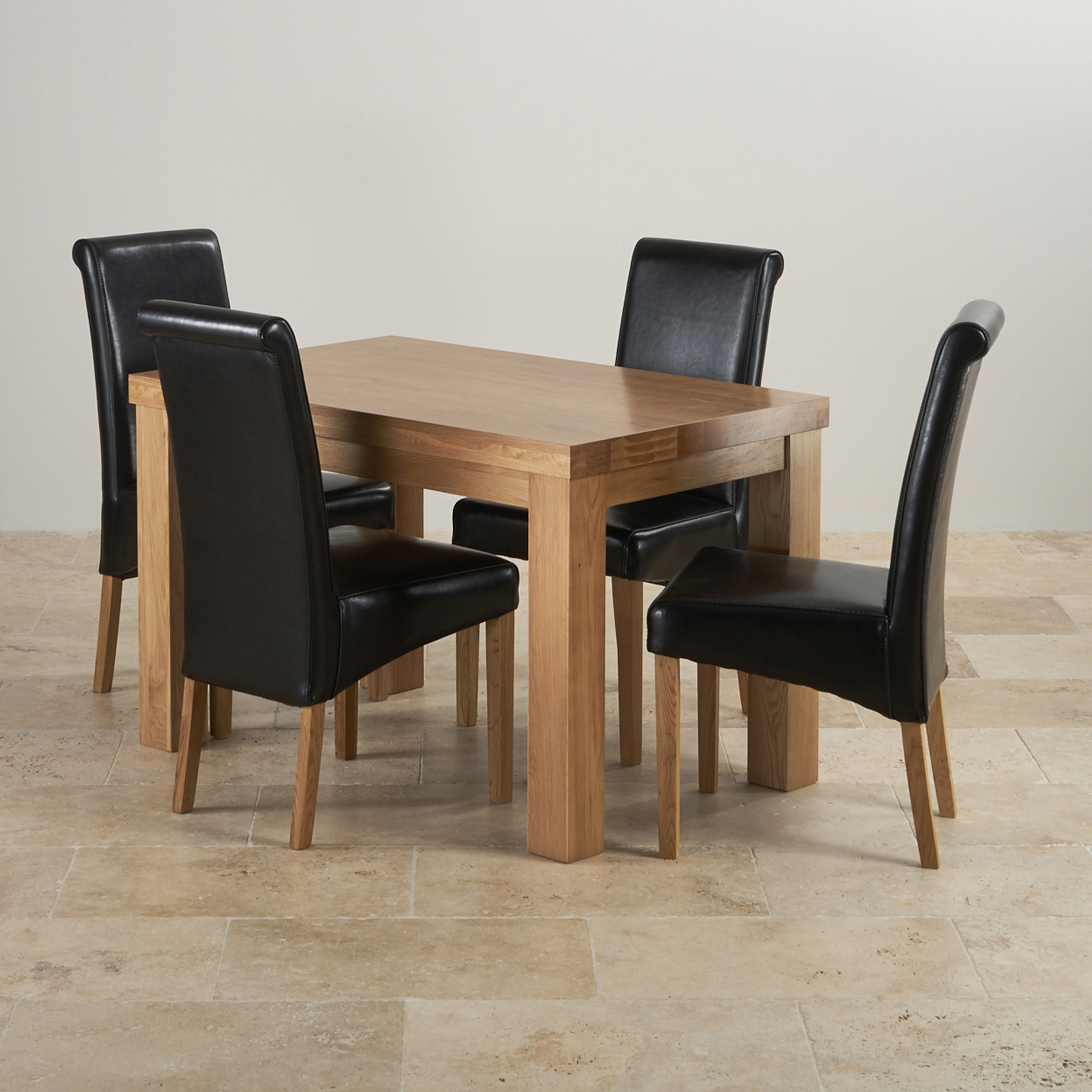 2 x 4 dining chairs anywhere chair cover etsy chunky 4ft solid oak table black leather scroll