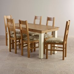 Oak Farmhouse Chairs Metal Bistro Outdoor Country Cottage Dining Set In Painted Table 436