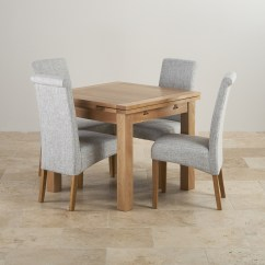 Chair For Dining Table Cover Rentals Albany Ny Dorset Oak 3ft With 4 Grey Fabric Chairs