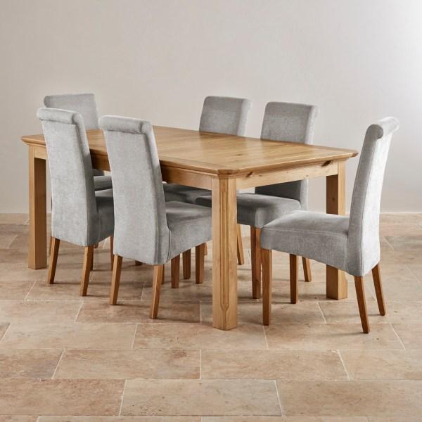 Edinburgh Extending Dining Set In Oak Table 6 Chairs