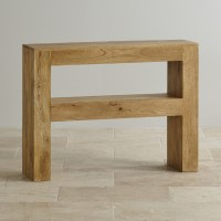 Mantis Light Console Table in Solid Mango