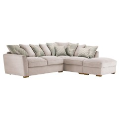 Duck Feather Corner Sofa Er Cafe Nebraska Left With Pillow Back In Fawn 43 Footstool