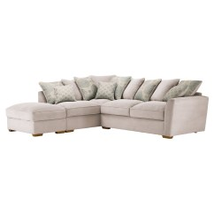 Duck Feather Corner Sofa Taupe Leather Recliner Nebraska Right Hand With Pillow Back Aero Fawn