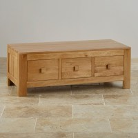 Oakdale 6 Drawer Coffee Table in Natural Solid Oak