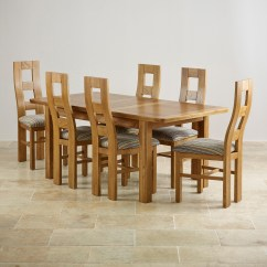 Table And 6 Chairs White Shell Chair Orrick Extending Dining Set In Rustic Oak 43 Beige