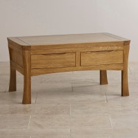 Orrick Coffee Table in Rustic Solid Oak | Oak Furniture Land