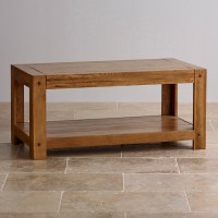 Quercus Coffee Table in Rustic Solid Oak | Oak Furniture Land