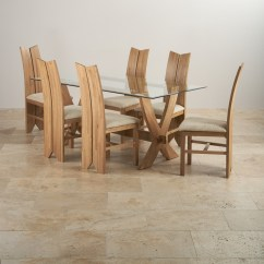 Tulip Table And Chairs Uk Canvas Folding Reflection Dining In Natural Oak 43 6 Beige