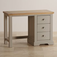 St Ives Grey Dressing Table in 100% Solid Hardwood