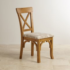 Rustic Dining Chair Parsons Cover Pattern Taunton In Oak Patterned Beige