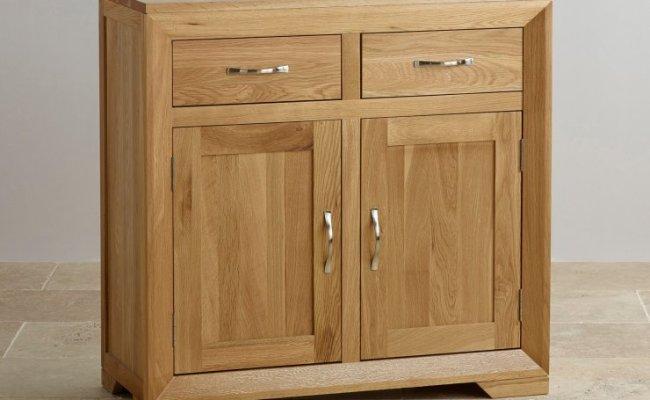 Bevel Small Sideboard In Natural Solid Oak Oak Furniture