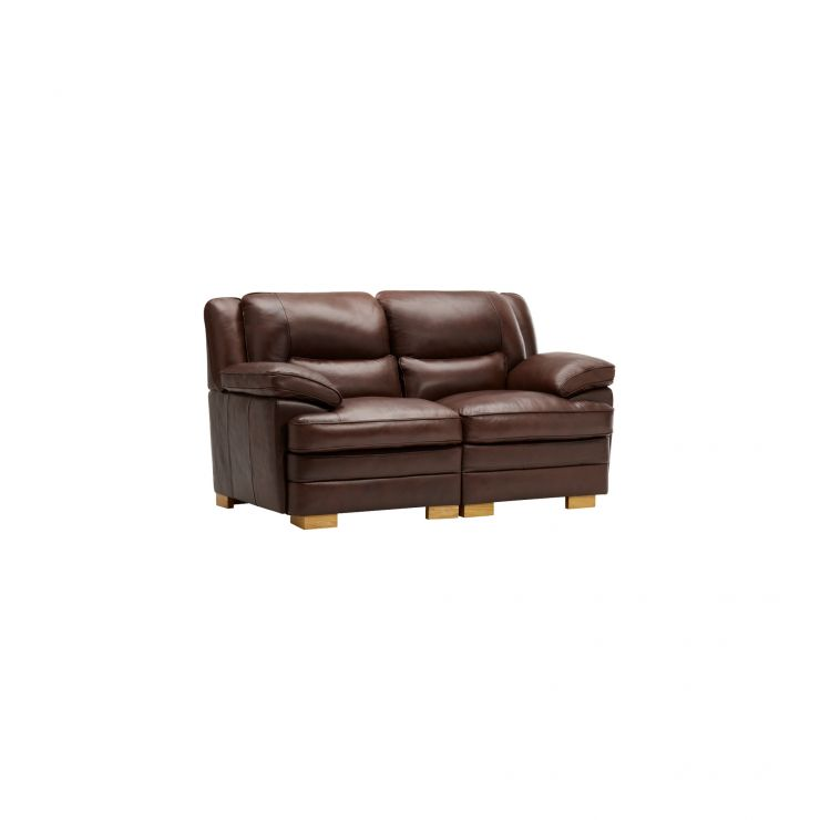 modena 2 seater reclining leather sofa gumtree sydney modular group 8 in two tone brown oak image 1