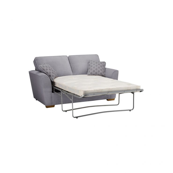 width of a sofa bed target nebraska 2 seater deluxe mattress aero silver fabric with in scatters image express delivery