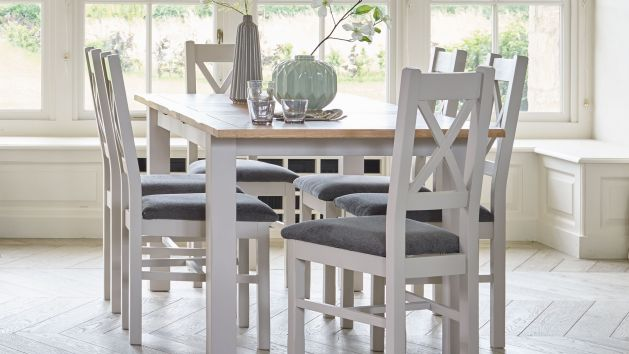 6 chair dining set fishing umbrella table and chairs sets oak furnitureland