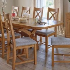 Tables And Chairs Linen Tufted Dining Chair Oak Extendable Table Furnitureland