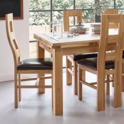 Oak Kitchen Chairs Tall Table With Bench Dining Solid Wood Furniture Land