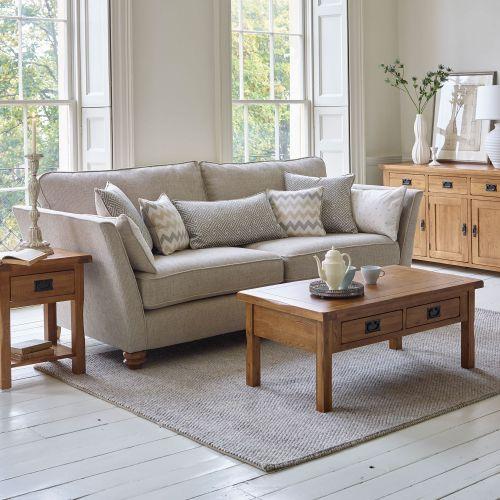 oak furniture land living room sets drapes solid sofas