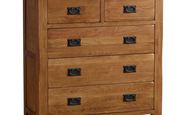 Rustic Chest Of Drawers In Solid Oak Oak Furnitureland