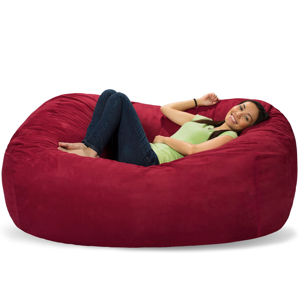 6 foot bean bag chair hanging au lounger couch ft