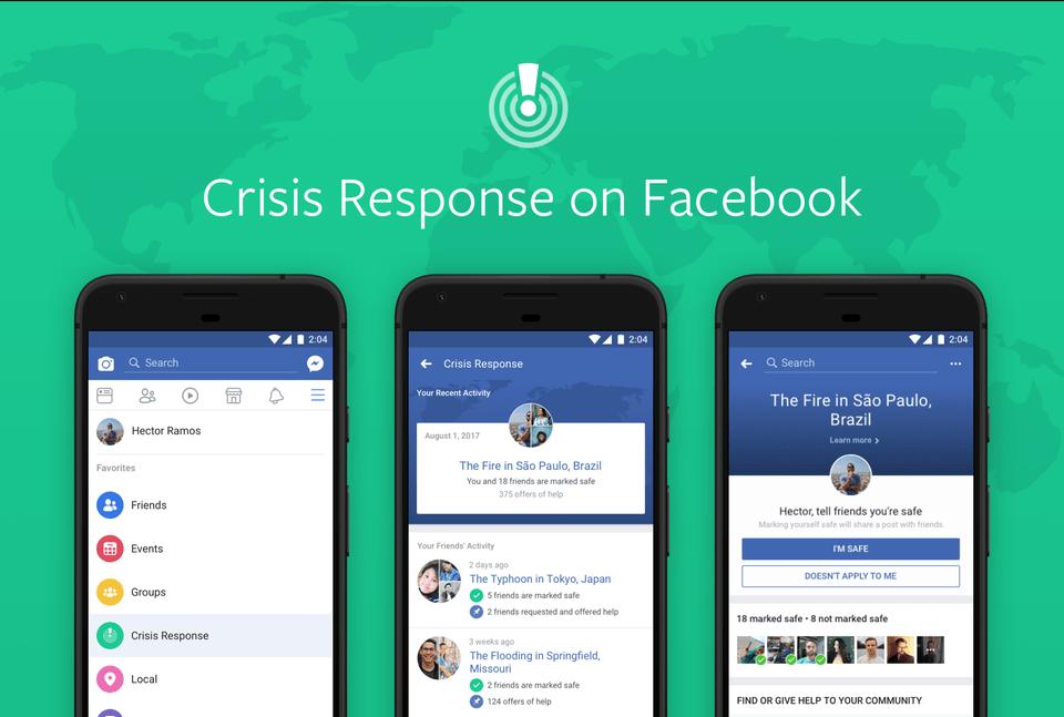 Facebook introduces a Crisis Response Center