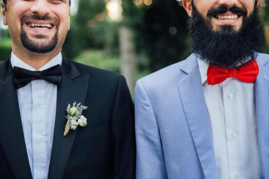 人々、男性、男性、結婚式、ひげ、ひげ、笑顔、笑い、幸せ、口ひげ