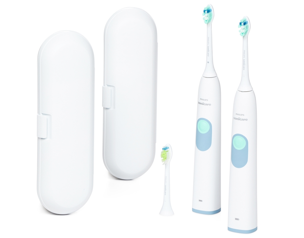 Philips Sonicare EssentialClean 2 Toothbrushers + Travel