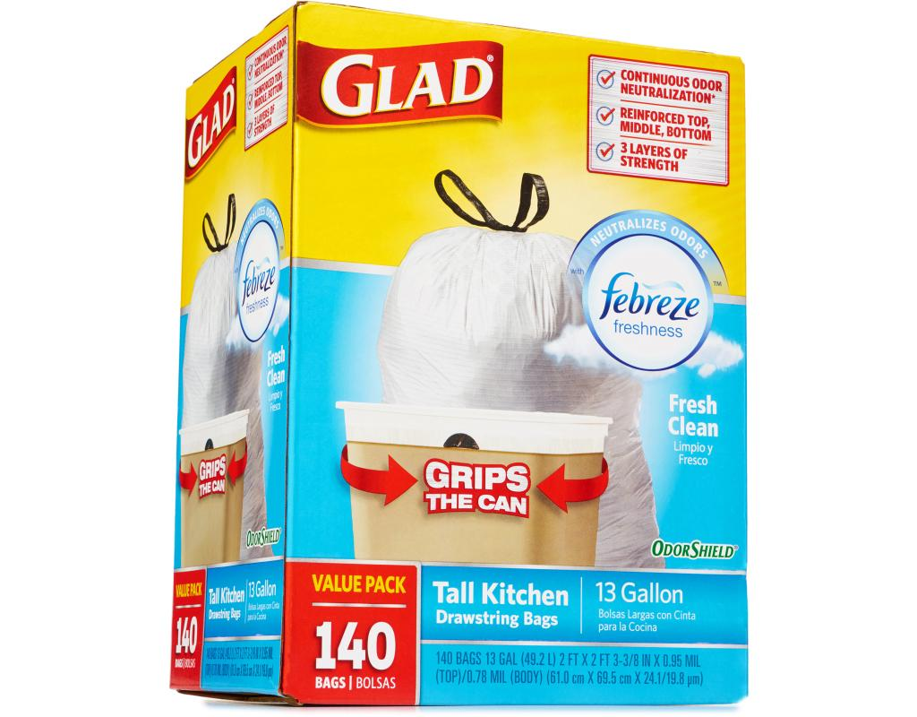 glad kitchen trash bags best place to buy island odorshield 43 febreze 140 13 gallon