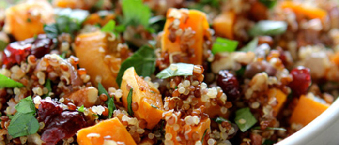 Image result for Roasted Squash, Dried Cranberries With Quinoa