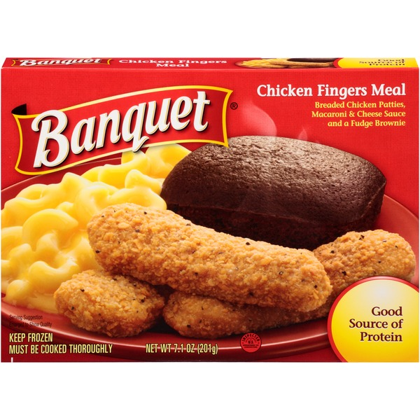 banquet chicken fingers entree