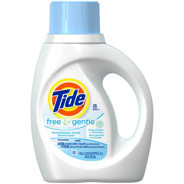 Tide Free and Gentle Liquid Laundry Detergent 50 oz 32
