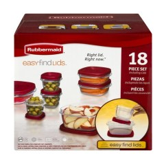 Rubbermaid Kitchen Storage Containers Samsung Suite Easy Find Lids Food 18 Ct From Cvs