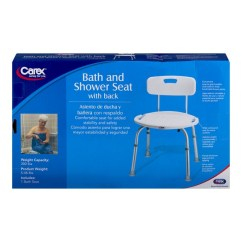 Carex Shower Chair Patio Rocker Bath And Seat With Back 1 0 Ct From Albertsons
